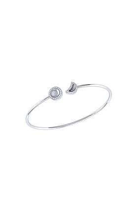 Sterling Silver Moon Phases Cuff