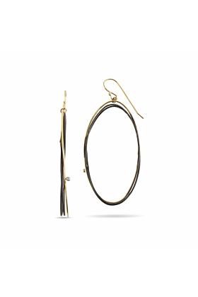 Sterling Silver & 18kt Yellow Gold Europa Earrings