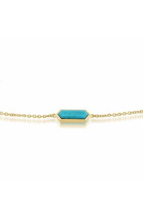 Gemondo Turquoise Hexagon Prism Bracelet