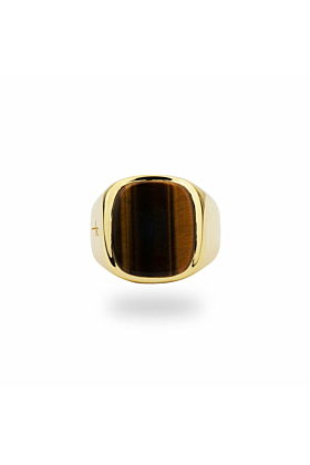 Jamestown Tiger Eye Gold Ring