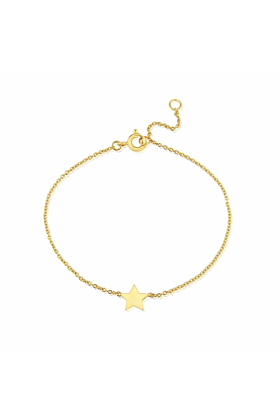 Yellow Gold Plated Soho Star Bracelet