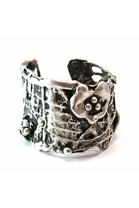 Large Ophelia Sterling Silver Cuff