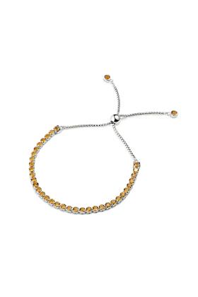 Sterling Silver Beitou Citrine Bracelet