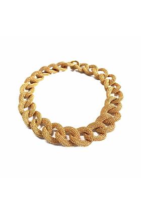 Goddess Sun Link Twist  18kt Gold Necklace