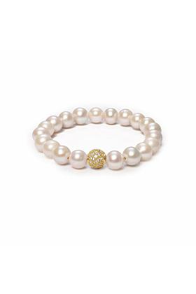 14kt Gold Orbis Pearl & Cubic Zirconia Bracelet