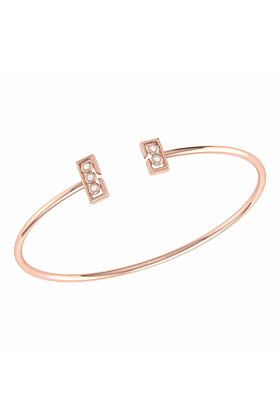 14kt Rose Gold Plated Traffic Light Cuff