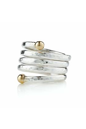 9kt Gold & Sterling Silver Adjustable Ring