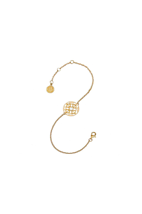 The Light of Compassion Yellow Gold Bracelet