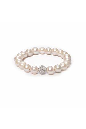 Sterling Silver Orbis Pearl & Cubic Zirconia Bracelet