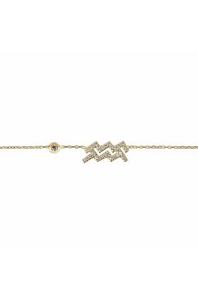Aquarius Zodiac Bracelet Gold