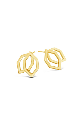 Yellow Gold Plated Stanton Earrings