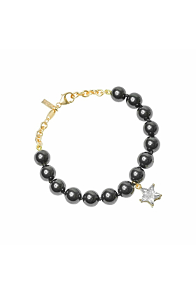 Rose Gold and Hematitie Star Bracelet