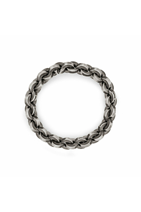 Sterling Silver Bold Round Link Chain Bracelet | Snake Bones
