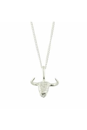 Bulls Head Silver Charm