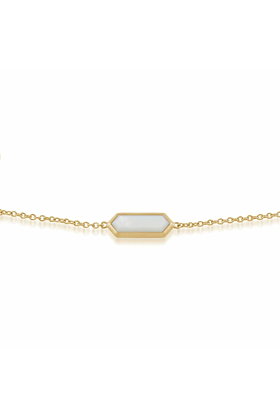 Gemondo Mother of Pearl Hexagon Prism Bracelet