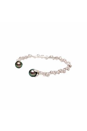Silver Palm Berries Cuff