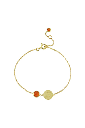 9kt Yellow Gold Bali Birthstone Bracelet