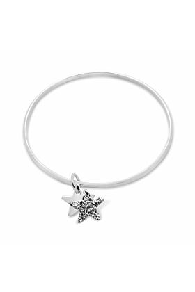 Spirit Double Star Oval Bangle Bracelet