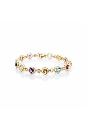 Multi-Coloured Gemstone Bracelet