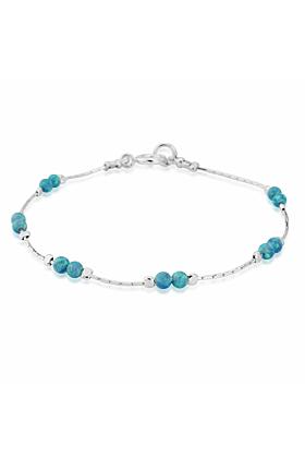 Sterling Silver & Aqua Opal Bracelet