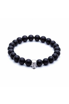 Agate Skull Beaded Bracelet