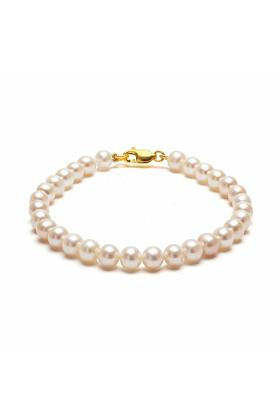 Classic 14kt Gold White Pearl Bracelet