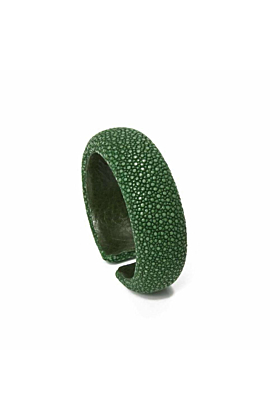 Samba Sapin Green Stingray Leather Bangle