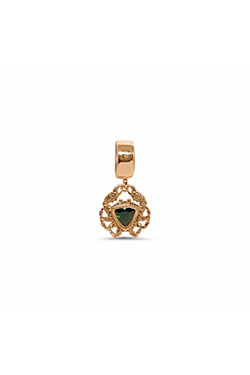 18kt Rose Gold & Green Tourmaline Ocean XXY Charm