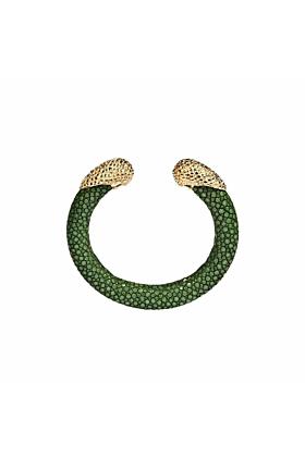 Calypso Sapin Green Stingray Leather Bangle