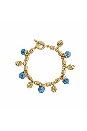 Sunshine Twist Turquoise Charms Bracelet