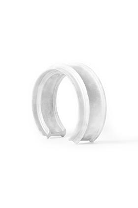 MyCity Tehran Thin Cuff In White Pat Silver