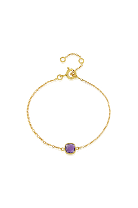 Yellow Gold Plated Brooklyn Amethyst Bracelet