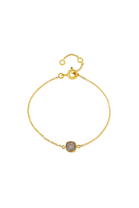 Yellow Gold Plated Brooklyn Labradorite Bracelet