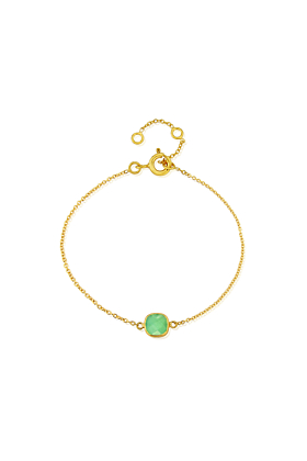 Yellow Gold Plated Brooklyn Chrysoprase Bracelet