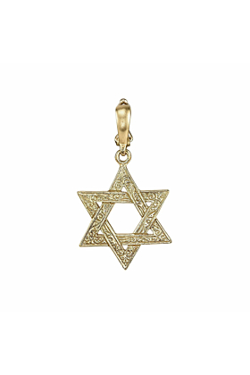 Engraved Star Of David Charm