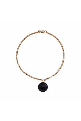 14kt Gold Alba Black Pearl Bracelet