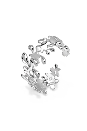 Sterling Silver Small Splash Bangle With Hinge