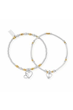Gold and Silver Double Devotion Set of 2 Bracelets