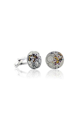 Silver Plated Brass Best Seller Vintage Watch Movement Cufflinks