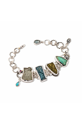 Sterling Silver Rocks On The Beach Bracelet