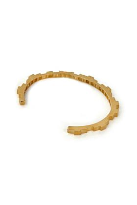 18kt Yellow Gold Vermeil Hive Slim Cuff Bracelet