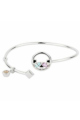 Sterling Silver Amethyst Heroic Bracelet