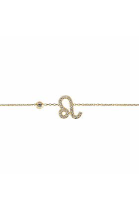 Leo Zodiac Bracelet Gold