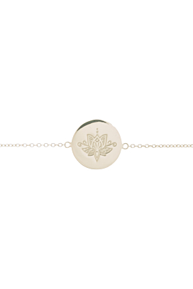 Sterling Silver Lotus Disc Bracelet