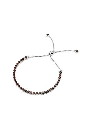 Sterling Silver Zhongshan Garnet Bracelet