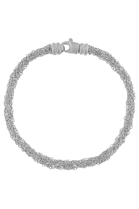 Sterling Silver Woven Multiple Chain Bracelet
