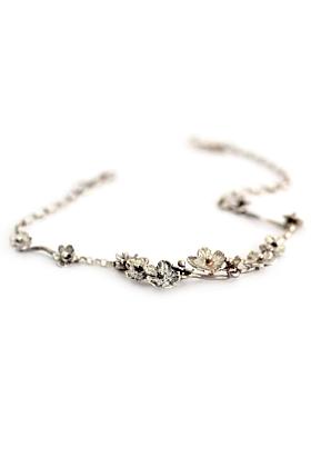 Sterling Silver Buttercup Flower Bracelet