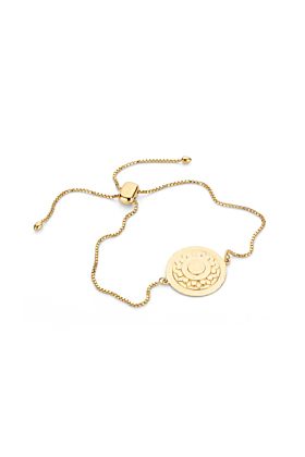 Yellow Gold Plated Harriet Slider Chain Bracelet