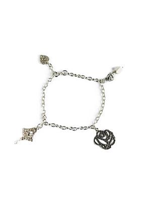 Sterling Silver Floral Lotus Bracelet