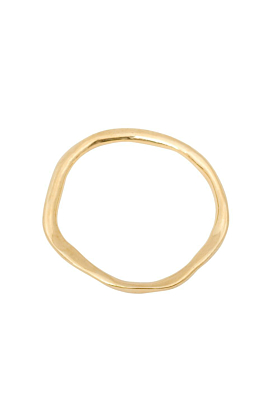 Gold Plated Silver Unity Thick Bangle
